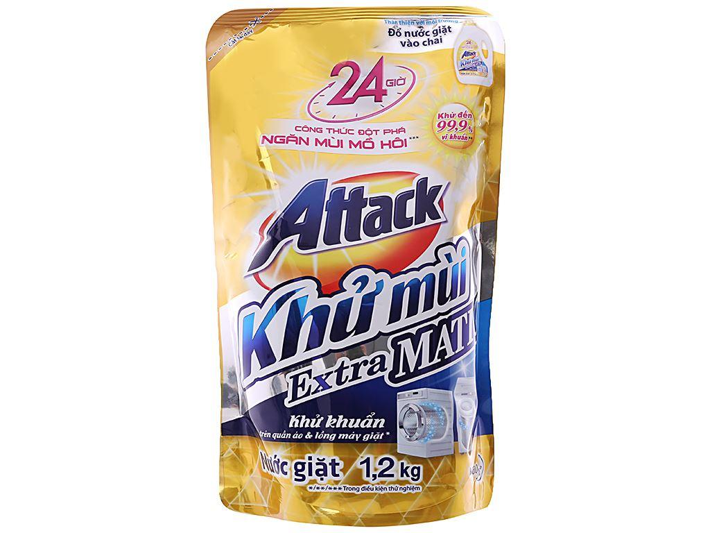 Nước giặt Attack Extra Matic ngăn mùi mồ hôi 1.2 lít 1