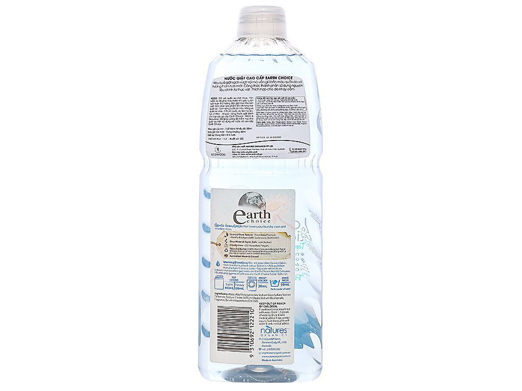 Nước giặt Earth Choice Pure Clean 1 lít 2