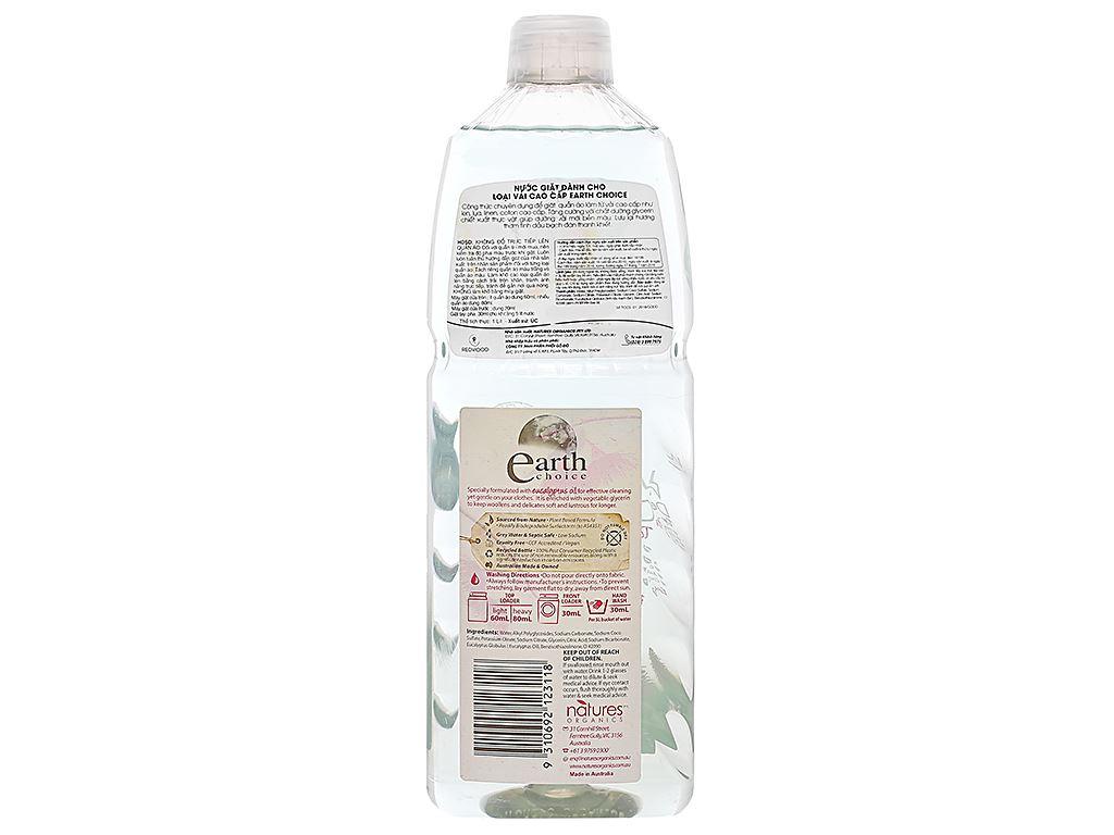 Nước giặt Earth Choice dành cho vải cao cấp hương tinh dầu bạch đàn 1 lít 2