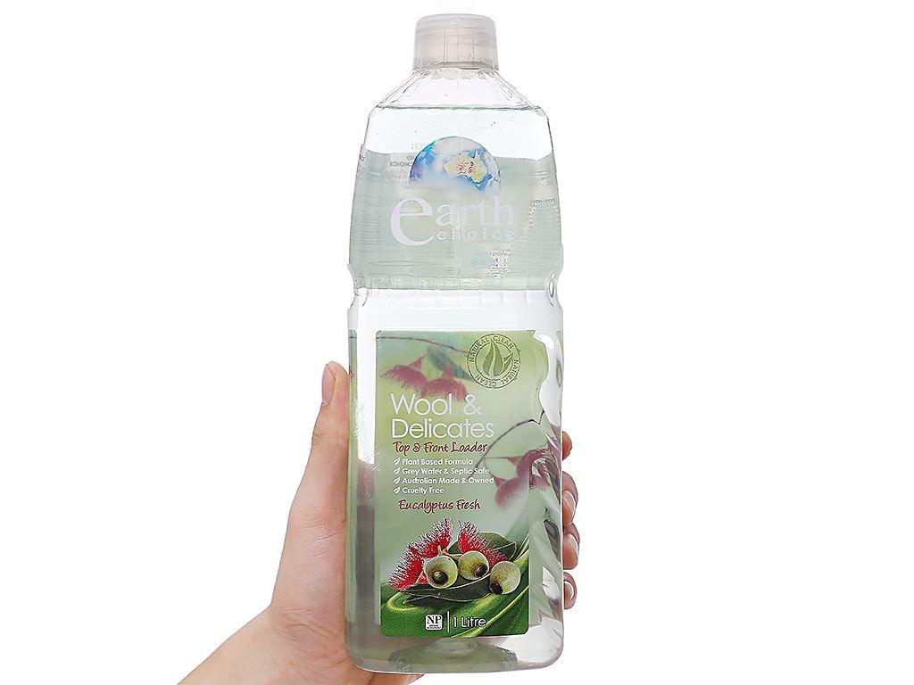 Nước giặt Earth Choice dành cho vải cao cấp hương tinh dầu bạch đàn 1 lít 3