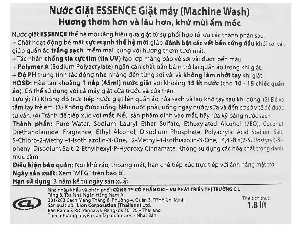 Nước giặt Essence Magic Wash 2 lít 3