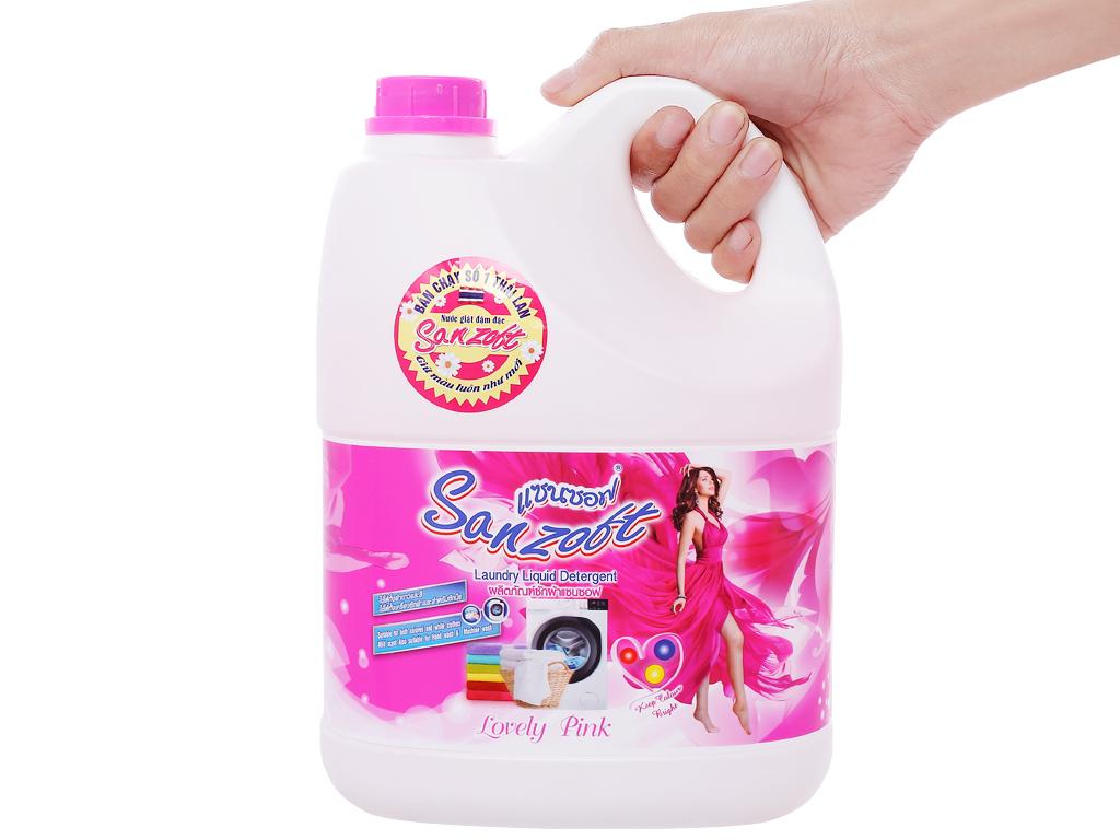 Nước giặt xả Sanzoft hương hoa hồng can 3.5 lít 3