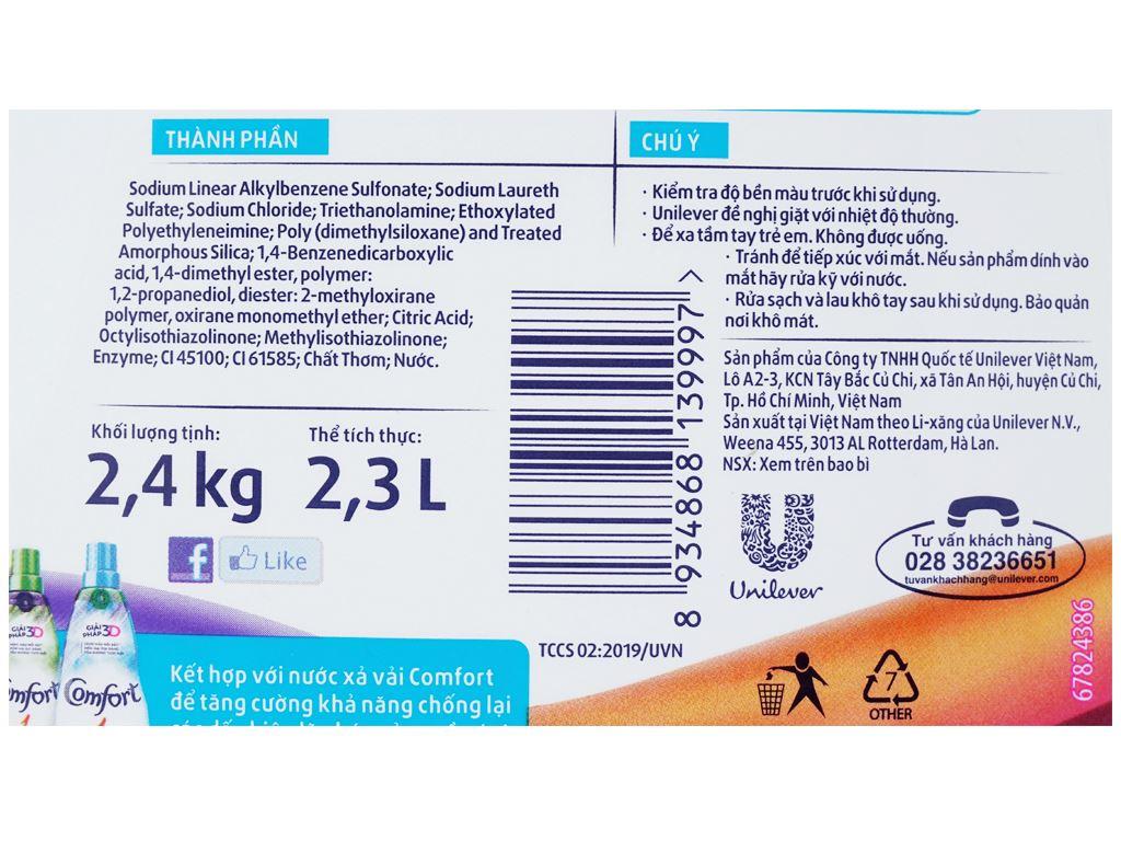 Nước giặt Comfort chống lão hóa hương thời thượng chai 2.3 lít 3