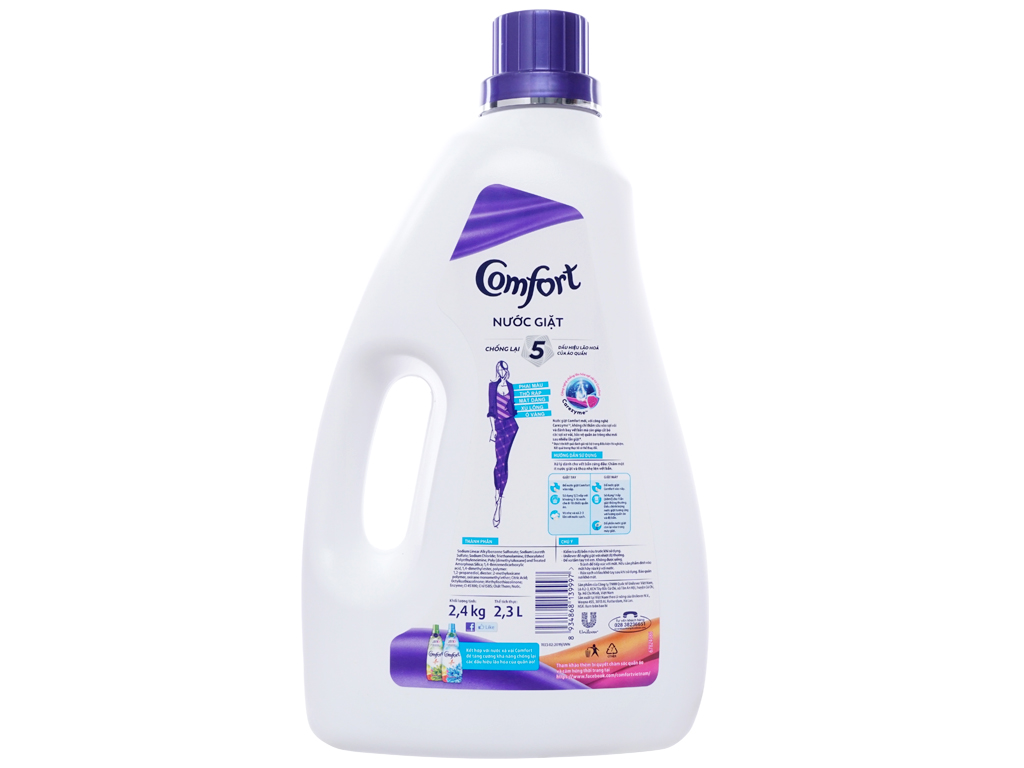 Nước giặt Comfort chống lão hóa hương thời thượng chai 2.3 lít 2