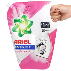 Nước giặt Ariel Matic cửa trước bung toả đam mê túi 2.15kg