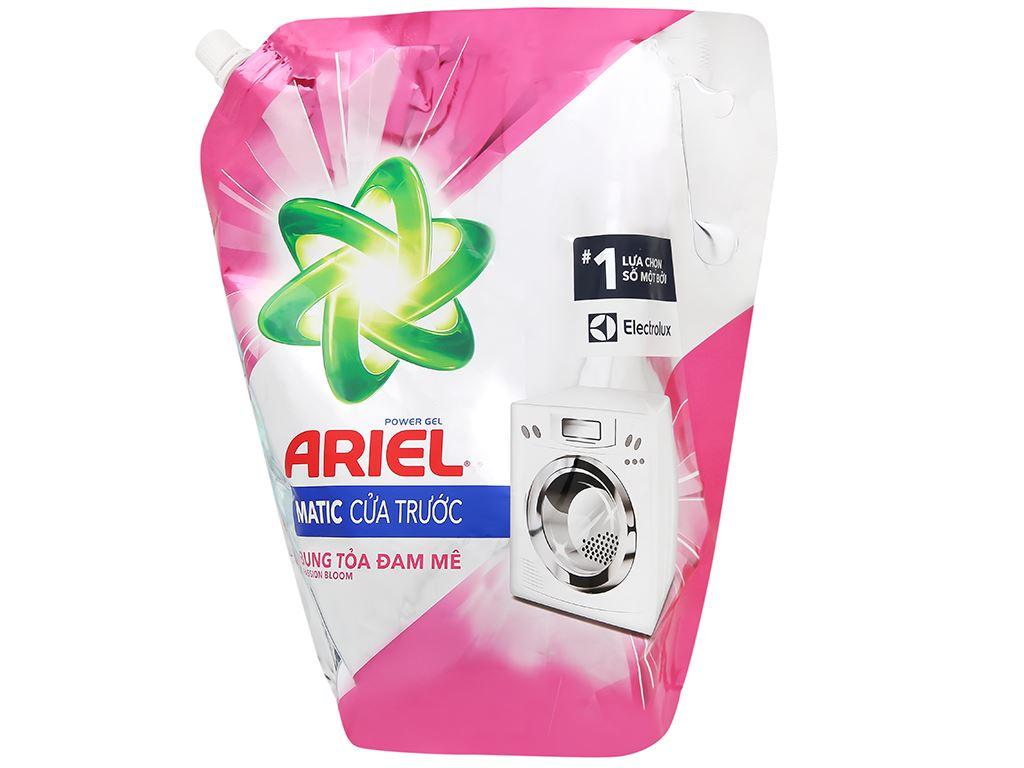 Nước giặt Ariel Matic cửa trước bung toả đam mê túi 2 lít 1