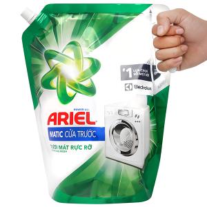 Nước giặt Ariel Matic cửa trước tươi mát rực rỡ túi 2.4kg