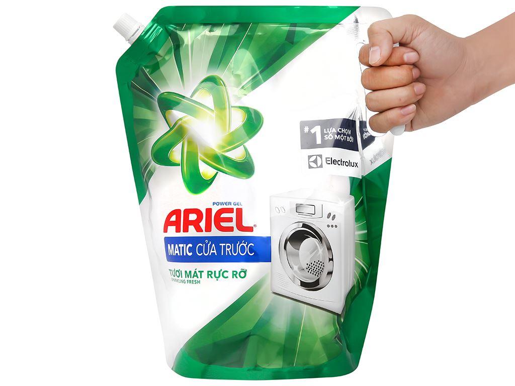 Nước giặt Ariel Matic cửa trước tươi mát rực rỡ túi 2.3 lít 6
