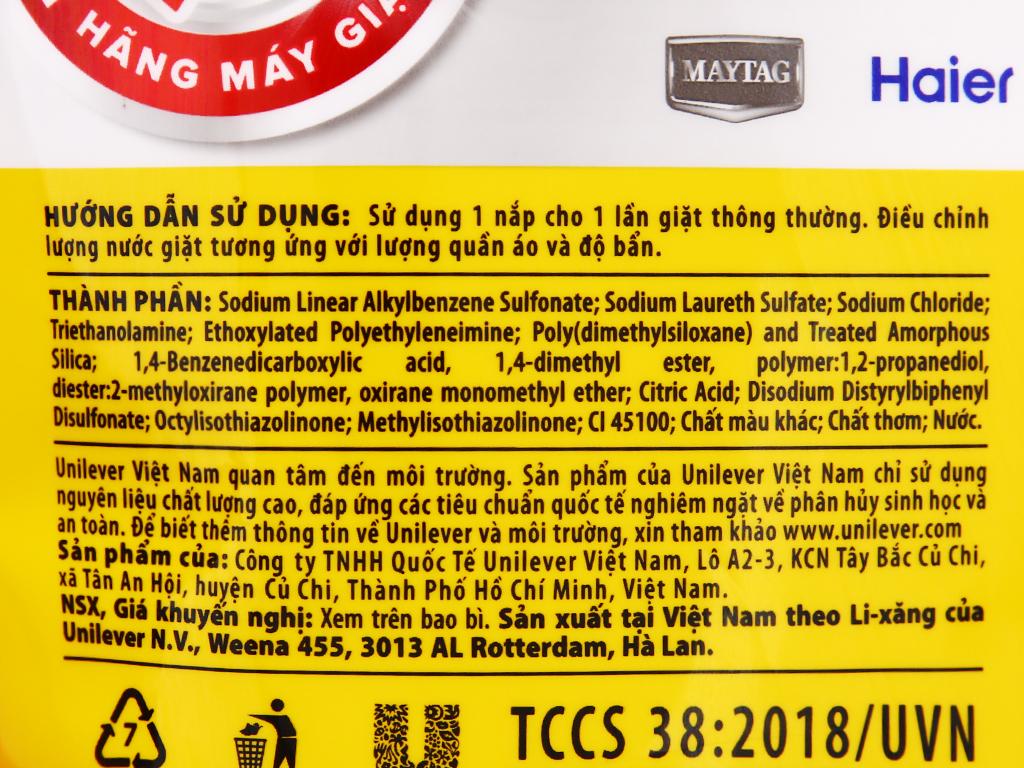 Nước giặt OMO Matic comfort tinh dầu thơm túi 3.55 lít 4