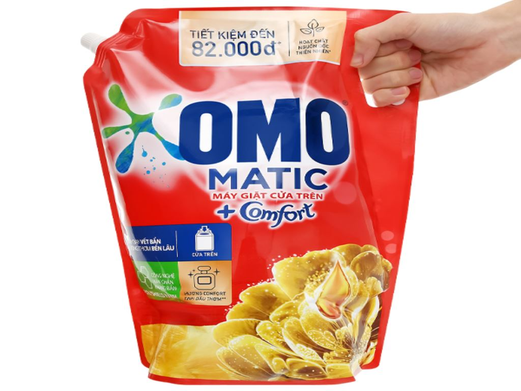 Nước giặt OMO Matic Comfort tinh dầu thơm túi 3.55 lít 1