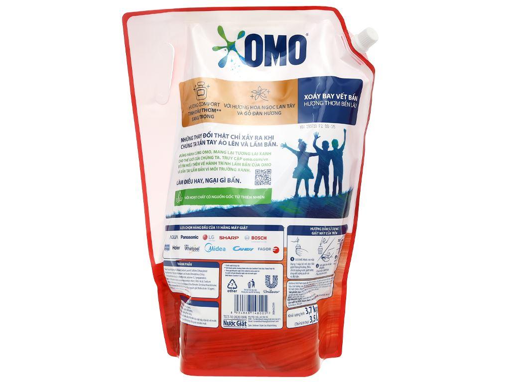Nước giặt OMO Matic Comfort tinh dầu thơm túi 3.55 lít 3