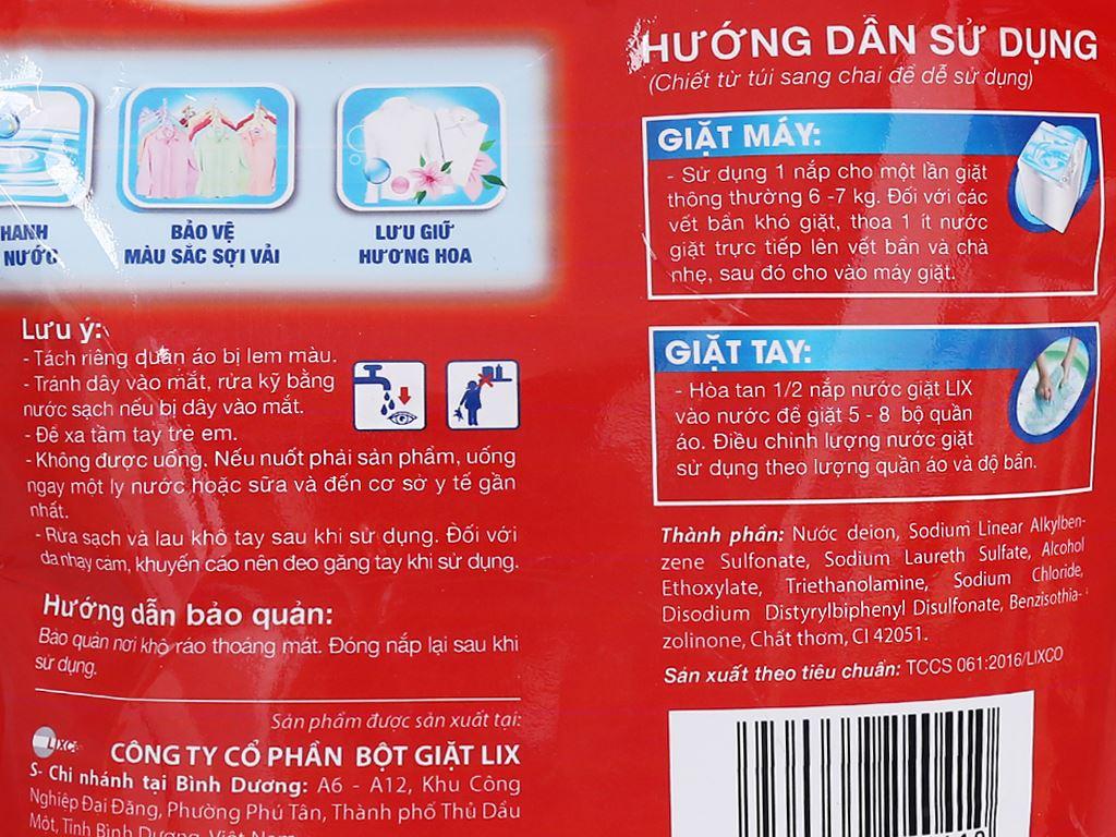 Nước giặt Lix đậm đặc túi 2.5 lít 3