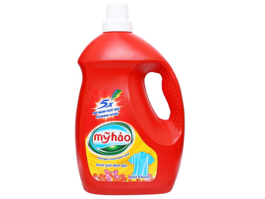 Nước giặt Mỹ Hảo 5x đậm đặc diệt khuẩn chai 3.8kg 1