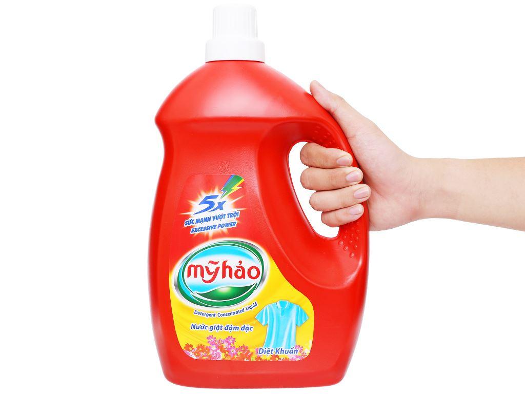 Nước giặt Mỹ Hảo 5x đậm đặc diệt khuẩn chai 3.8kg 5