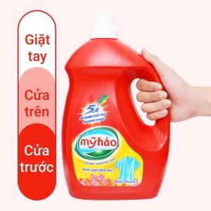 Nước giặt Mỹ Hảo 5x đậm đặc diệt khuẩn chai 3.8kg