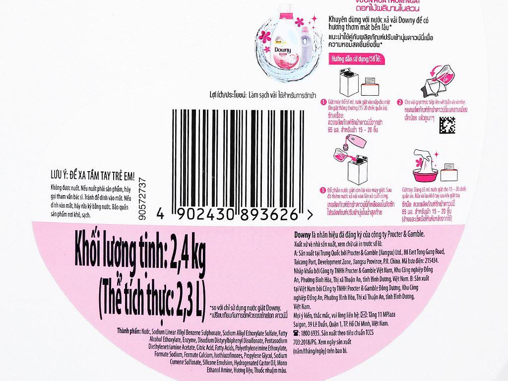 Nước giặt Downy Matic vườn hoa thơm ngát chai 2.3 lít 3