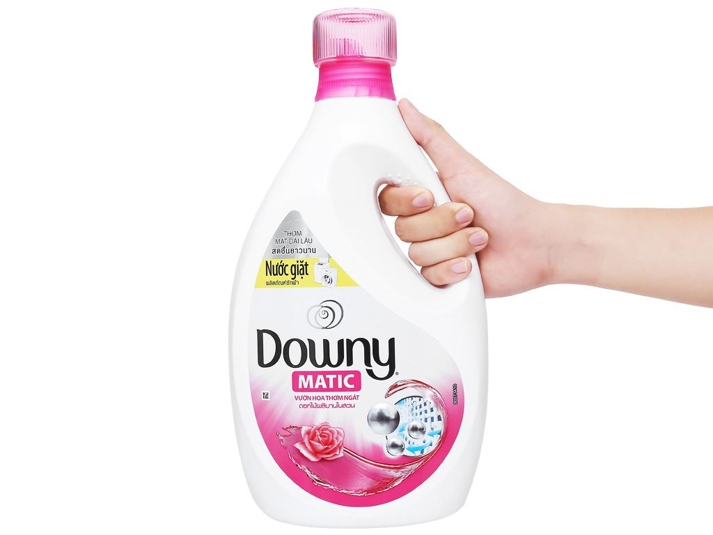 Nước giặt Downy Matic vườn hoa thơm ngát chai 2.3 lít 4