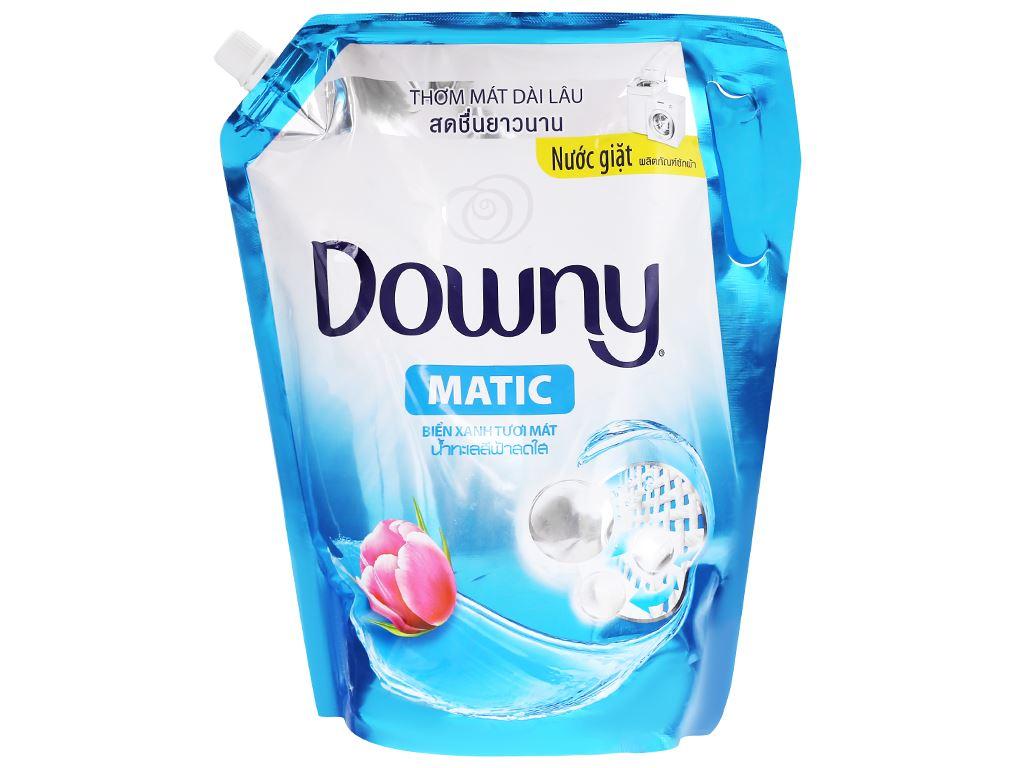 Nước giặt Downy Matic biển xanh tươi mát túi 2 lít 2