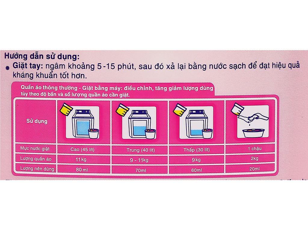 Nước giặt Mao Bao kháng khuẩn hương bách lý chai 490ml 3