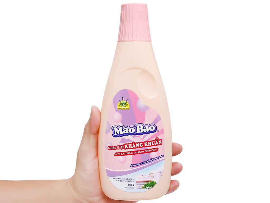 Nước giặt Mao Bao kháng khuẩn hương bách lý chai 490ml 5