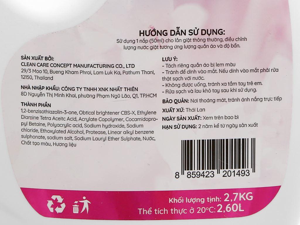 Nước giặt IZI HOME hương hoa dịu nhẹ chai 2.6 lít 3