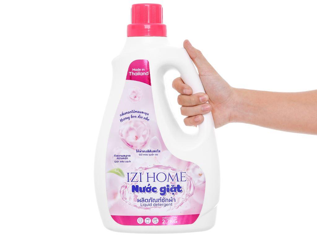 Nước giặt IZI HOME hương hoa dịu nhẹ chai 2.6 lít 4