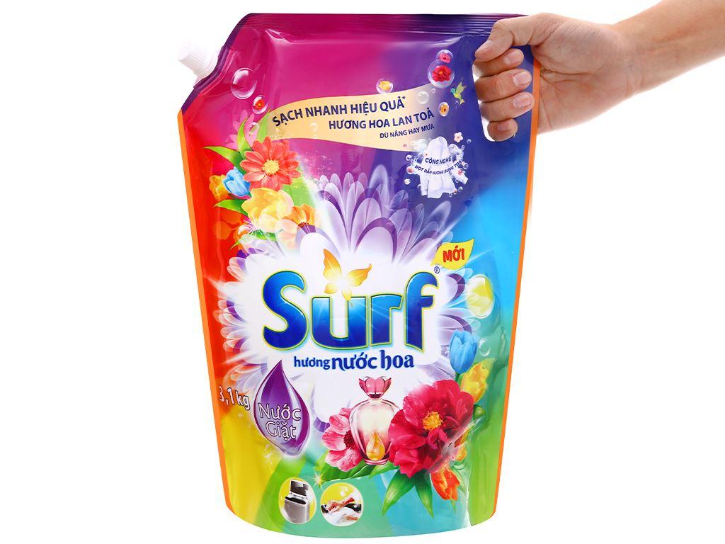 Nước giặt Surf hương nước hoa túi 3 lít 6
