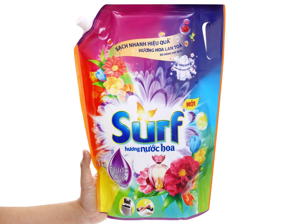 Nước giặt Surf hương nước hoa túi 3 lít 7
