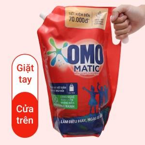 Nước giặt OMO Matic bền đẹp cửa trên túi 3 lít