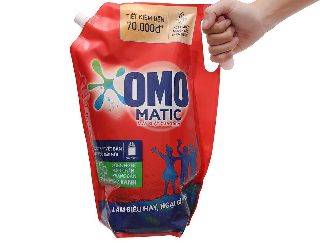 Nước giặt OMO Matic bền đẹp cửa trên túi 3 lít 6