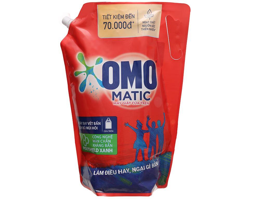 Nước giặt OMO Matic bền đẹp cửa trên túi 3 lít 1