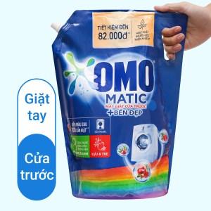 Nước giặt OMO Matic bền đẹp cửa trước lựu và tre 3.5 lít