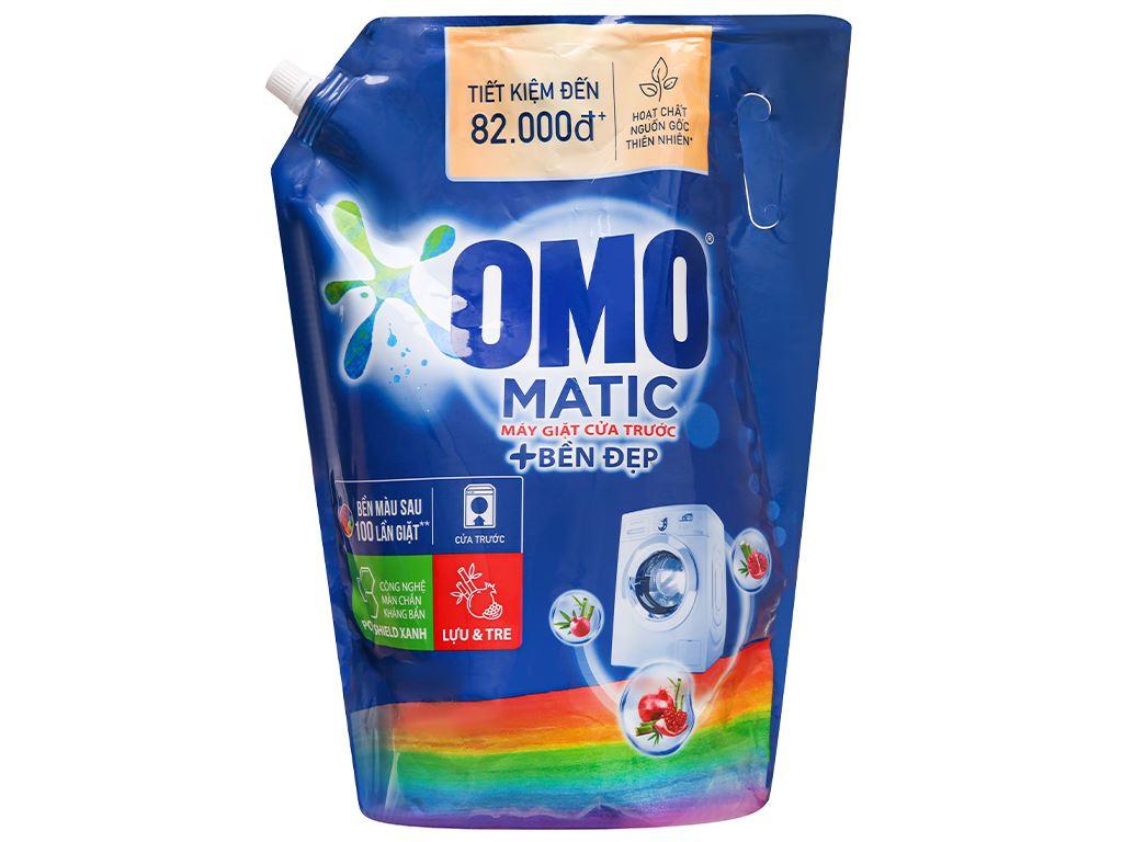 Nước giặt OMO Matic bền đẹp cửa trước lựu và tre 3.5 lít 2