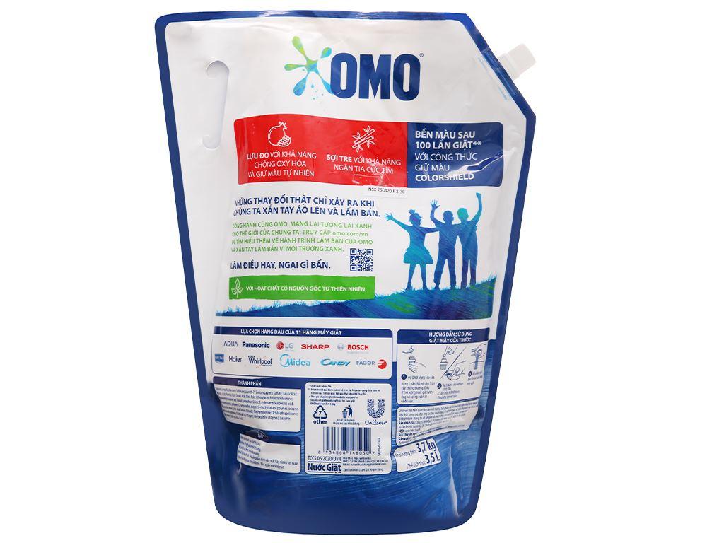 Nước giặt OMO Matic bền đẹp cửa trước lựu và tre 3.5 lít 3