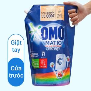 Nước giặt OMO Matic bền đẹp cửa trước lựu và tre 2.8 lít