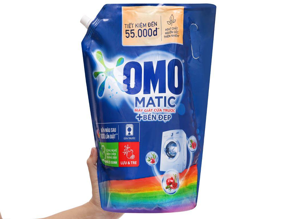 Nước giặt OMO Matic bền đẹp cửa trước lựu và tre 2.8 lít 5