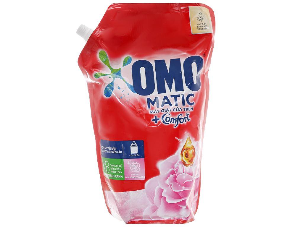 Nước giặt OMO Matic giặt máy cửa trên hương hoa hồng Ecuador 2.2 lít 1