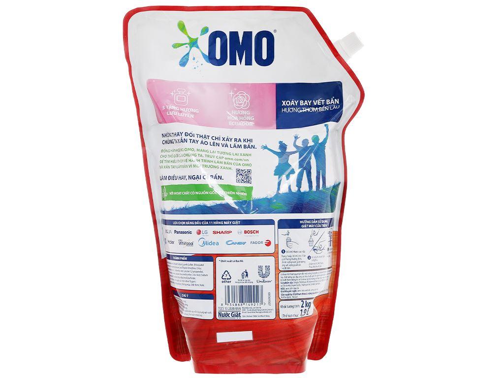 Nước giặt OMO Matic giặt máy cửa trên hương hoa hồng Ecuador 2.2 lít 2