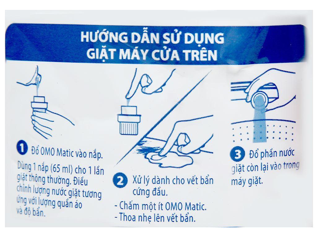 Nước giặt OMO Matic giặt máy cửa trên hương hoa hồng Ecuador 2.2 lít 4