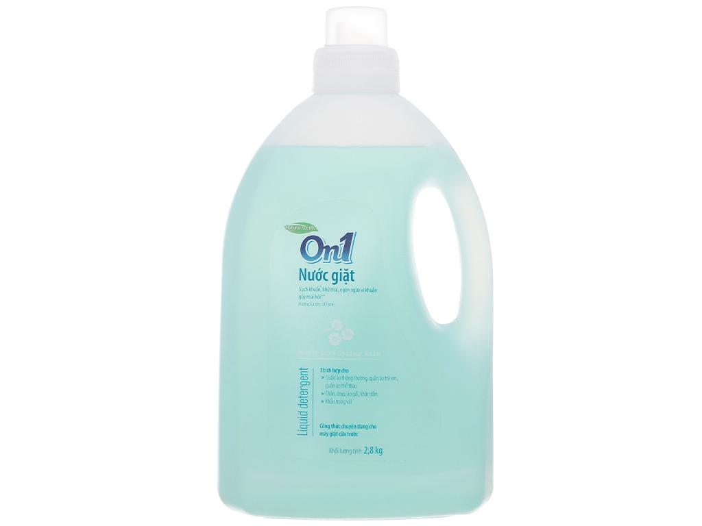 Nước giặt On1 sạch khuẩn khử mùi hương hoa mùa xuân 2.8kg 1