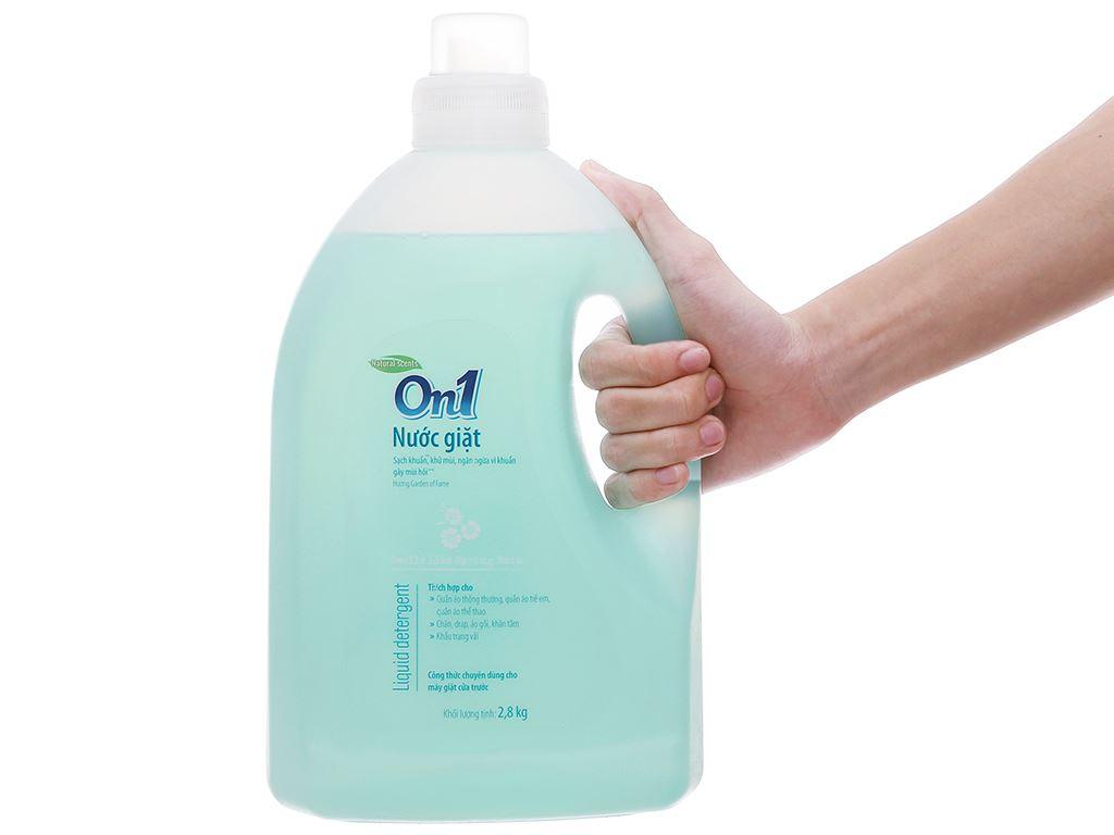 Nước giặt On1 sạch khuẩn khử mùi hương hoa mùa xuân 2.8kg 4