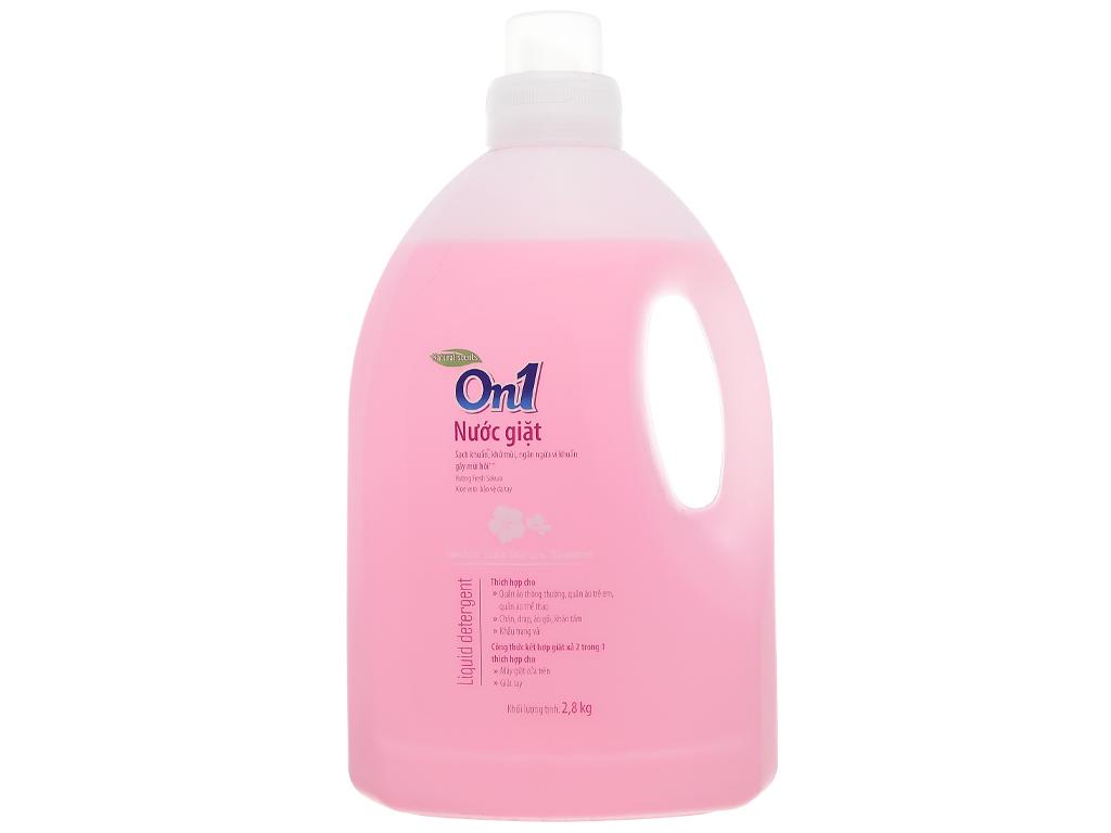Nước giặt On1 sạch khuẩn khử mùi hương hoa anh đào 2.8kg 1
