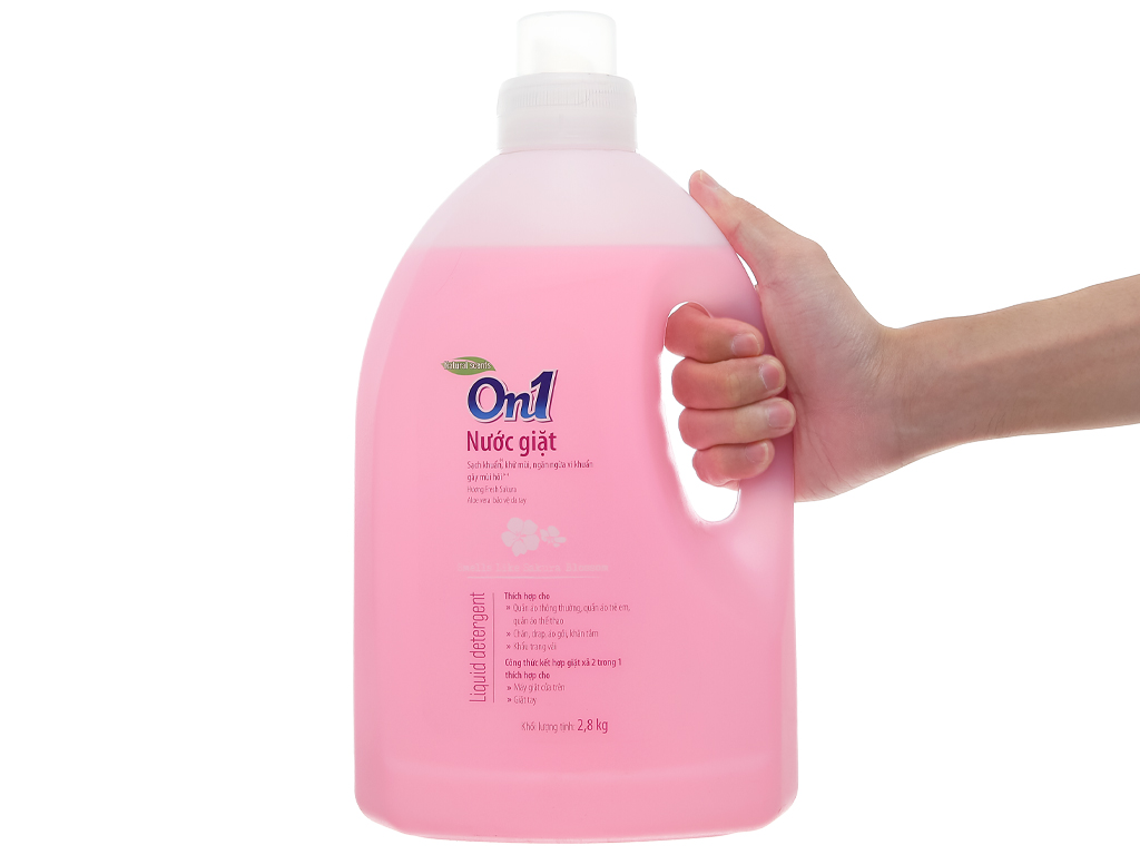 Nước giặt On1 sạch khuẩn khử mùi hương hoa anh đào 2.8kg 4