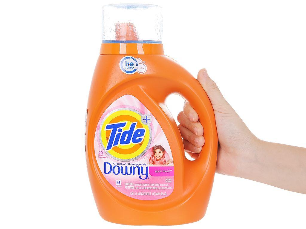 Nước giặt Tide hương Downy chai 1.36 lít 4