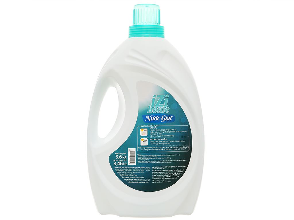 Nước giặt IZI HOME trắng sạch ngát hương chai 3.46 lít 2