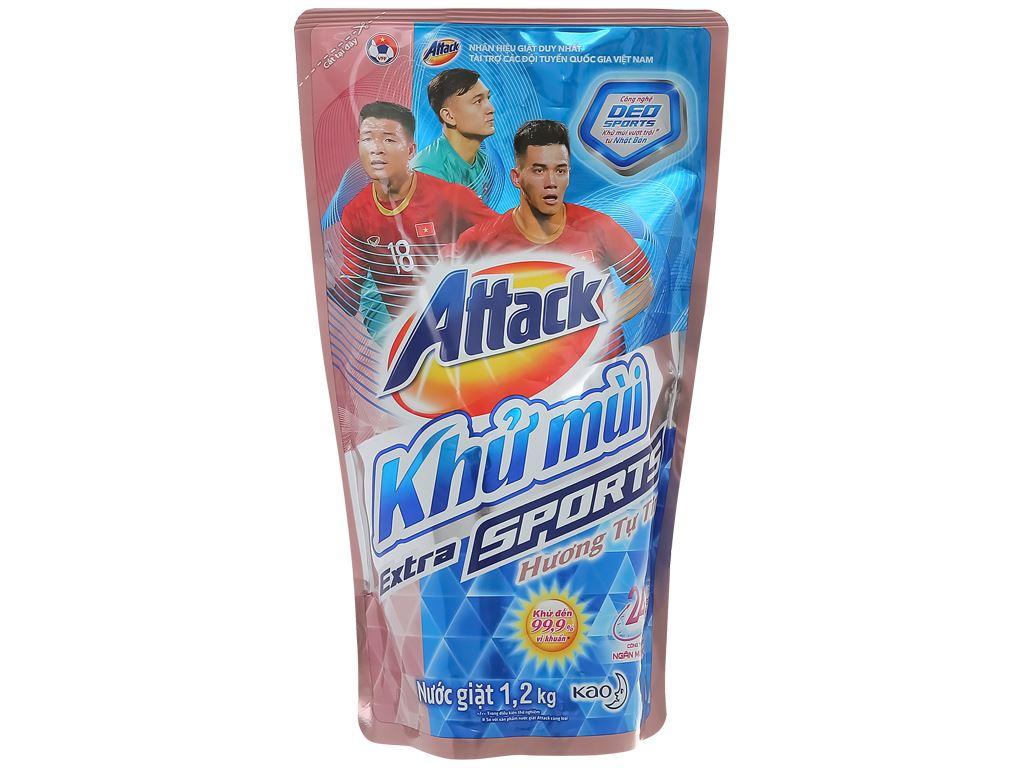 Nước giặt Attack khử mùi hương tự tin túi 1.15 lít 1