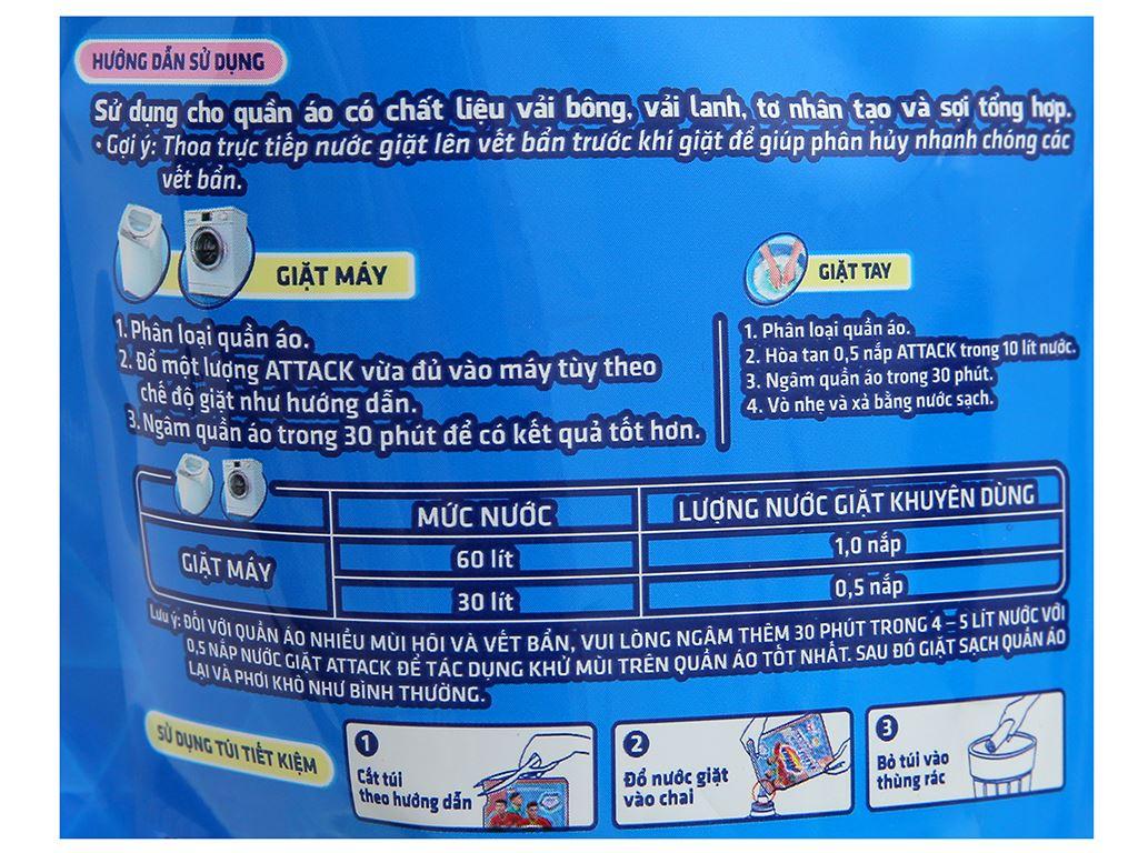 Nước giặt Attack khử mùi hương tự tin túi 1.15 lít 3