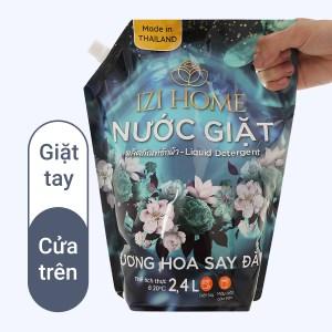 Nước giặt IZI HOME hương hoa say đắm túi 2.4 lít