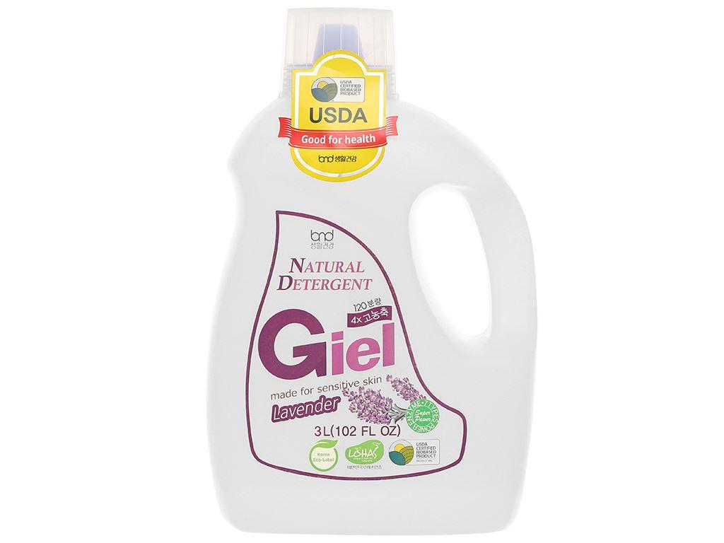 Nước giặt hữu cơ sinh học Giel hương Lavender can 3 lít 1