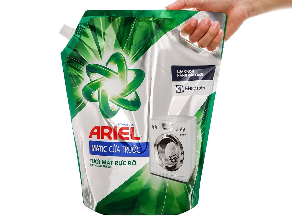 Nước giặt Ariel Matic cửa trước tươi mát rực rỡ túi 3.1 lít 5